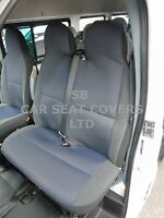 TO FIT A RENAULT TRAFIC SPORT VAN SEAT COVERS 2014 CROSS STITCH BLK//SILVER GREY