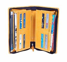 New Pu lether Expanding Cheque Book Holder Travelling Document Bag number of poc