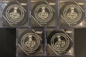 2018 Stanley Cup Finals.(OGP)..Complete 5 Puck Set... Golden Knights Vs Capitals