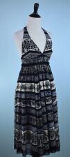 JEAN PAUL GAULTIER $748 SOLEIL Black Ivory Halter Dress M