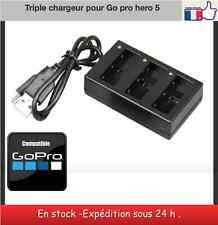 chargeur 3 batteries pour Gopro Hero 5  AHDBT-501