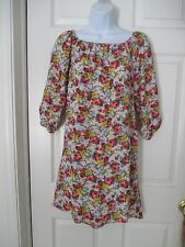 Free People Floral Boho Hi-Low Dress / Tunic Top Size S  Anthropologie