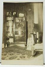 Iowa Falls IA Victorian Oak Side by Side Cabinet Desk Real Photo Postcard G15