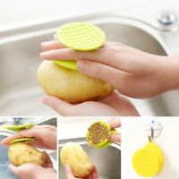 Kitchen Clean Tool Potato Brush Carrot Scrub Fish Scale Fruit Vegetable Cleaner