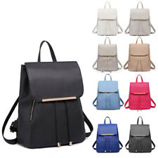 Ladies Girls PU Leather Backpack School Travel Shoulder Bag