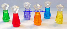 NEW Lego Minifig DISPLAY BOTTLES Trans Purple Green Blue Red Perfume Gems Jewels