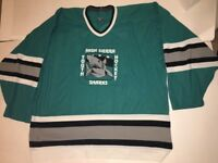 High Sierra Sharks CCM Jersey Teal Sz xl San Jose