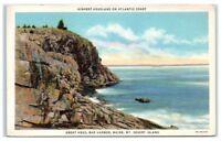 1937 Great Head, Bar Harbor, Mt. Desert Island, Maine Postcard