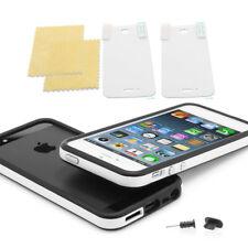 iPhone 5 / 5s TPU Bumper Silikon Case Schutz Hülle Cover original schwarz weiss
