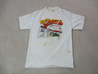 VINTAGE Cheers Shirt Adult Large White Red Boston Bar TV Show Movie Mens 90s *