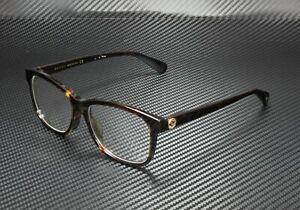 GUCCI GG0374OA 002 Square Havana Dark Havana Demo Lens 55 mm Women's Eyeglasses