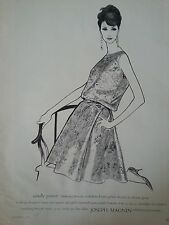 1961 I Magnin Co Candle Power Brocade By Elanor Green Jims Designer RoomAd