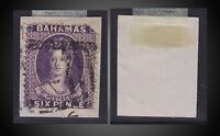 1883 BAHAMAS QUEEN VICTORIA 4P. DEEP VIOLET OVP. FOUR PENCE USED ON PIECE SG.45