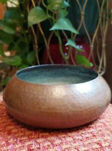 Roycroft Hammered Copper Bowl Arts and Crafts Period Art Metal Vintage EUC