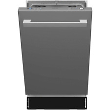 hOmeLabs Built In 18 Inch 6 Cycle Heated Kitchen Dishwasher, Stainless Steel