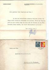 Deutsches Reich 1943 BAD DÜRKHEIM HASSLOCH Pfalz Trauerbrief Grossbrief Inhalt