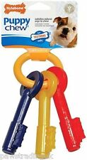 Nylabone Puppy Teething Keys Dog Chew Toy Puppies Canine Dental Hygiene New