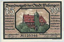 Notgeld - Stadt Wasungen - 75 Pfennig 1921 - Motiv 2 - Damenstift