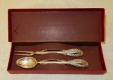 British Colonial Antique Silver Plate Spoons