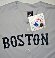 Mens Vintage BNWOT Gray MAJESTIC MLB BOSTON Red Sox Jersey size L