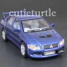 Kinsmart Mitsubishi Lancer Evolution EVO VII 1:36 Diecast Toy Car Blue KT5052D-X