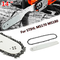 "14"" Chainsaw Guide Bar or 3/8 LP 50DL Saw Chain For STIHL MS170 MS180 MS190"