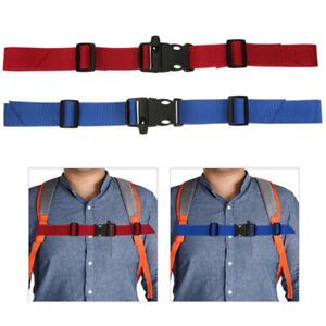 Kids Buckle clip strap adjustable chest harness bag backpack shoulder st^lk