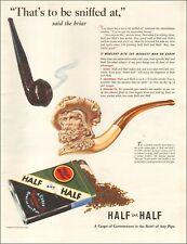 1941 Vintage ad for Burley and Bright Half and Half Pipe Tobacco retro  03/10/21