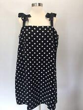 NEW Jcrew Tie-Strap Dress In Polka Dot Black White 16  #G6366  $110 SU '17