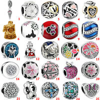 Fashion European 925 Sterling Silver Charms Bead For Bracelet Chain Necklace S-1