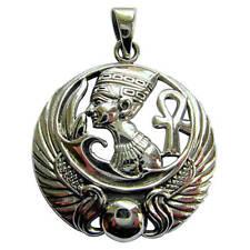 Sterling Silber 925 Ankh Kreuz Und Ägyptische Kopf-anhänger Neu