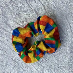 Handmade Building Blocks Lego Alternative Scrunchie Hair Tie Bobble