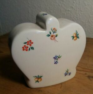 Vintage Arthur Wood floral money box, very clean (xv7)