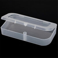 2PCS Clear Plastic Transparent Storage Box Case Collection Container With Lid