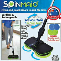 Electric Mop Cordless Rotary Rechargeable Floor Mop Cleaner Scrubber Polisher AU