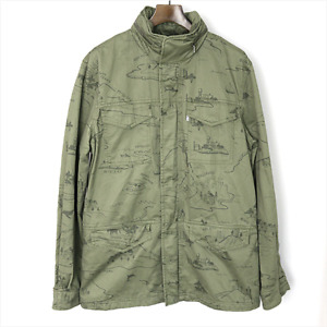 **50% OFF!!** LEVI'S M65 Military Style Coat / L & XL / Superb Detail / RRP £135