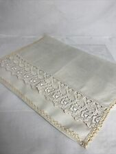 More details for vintage linen and lace nightdress/pyjama case/cushion cover1930s/40s/50s