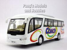 7 inch Coach Bus Scale Model by Kinsfun - WHITE