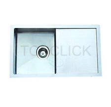 740mm Stainless Steel Kitchen Sink with Drainer Board/Tray Undermount/Topmount