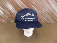 bb0ce4ba96a VTG Weidner Ford Lincoln Mercury of Cadillac Mesh Trucker Hat Cap Snapback