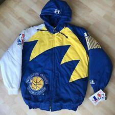 Vintage Golden State Warriors Logo Athletic Mens Medium M Jacket Winter Coat NBA