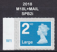 2018 Machin 2nd Class Large Bright Blue SG U3000 M18L+MAIL W1 Cylinder MNH SBP2i