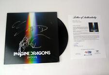 Imagine Dragons Full Band Signed Autograph Evolve Vinyl Record Album PSA/DNA COA