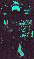 KON WAPOS 635 BAY LAKE 3-PATCH OA 100TH ANN 2015 NOAC FLAP GLOW-IN-DARK FEW MADE