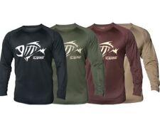 Camisas y camisetas de pesca marrón