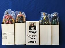Lot of (5) ToyFare Exclusive Figures - Havok, Synch, Wonder Man, Multiple Man