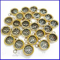 Brass Compass for Key Chains Pocket Key Ring Bulk Wholesale lot of 50 Pcs