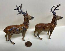 Two Putz Metal Reindeer - Vintage Stag Figures - Germany