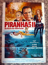 PIRANHAS II / PIRANHA 2 * JOE DANTE - A1-FILMPOSTER - German 1-Sheet 1981 HORROR
