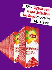FREE SHIPPING 175x Feel Good Selection Lipton Tea bags, choice in 14 taste